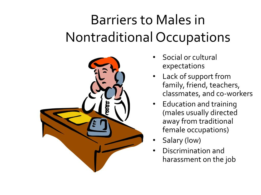 Barriers to Males in Nontraditional Occupations