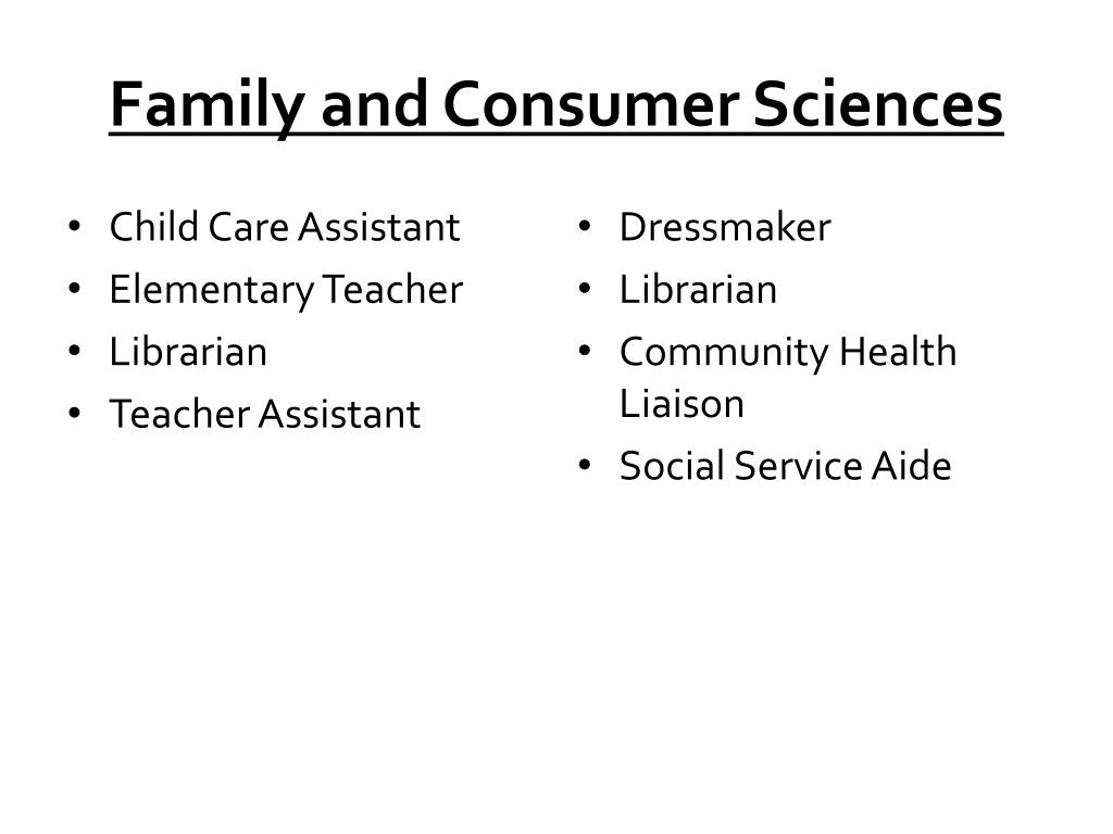 Family and Consumer Sciences