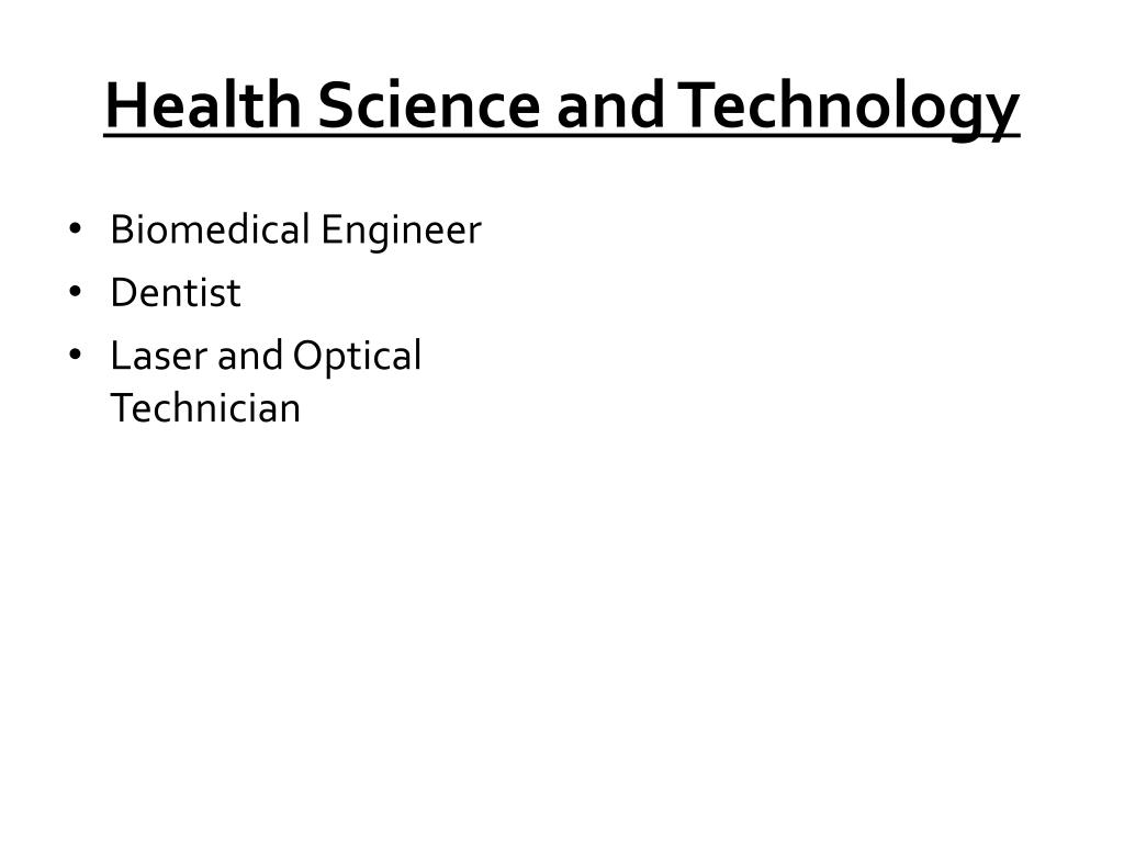 Health Science and Technology