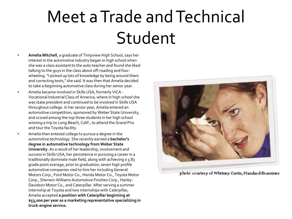 Meet a Trade and Technical Student