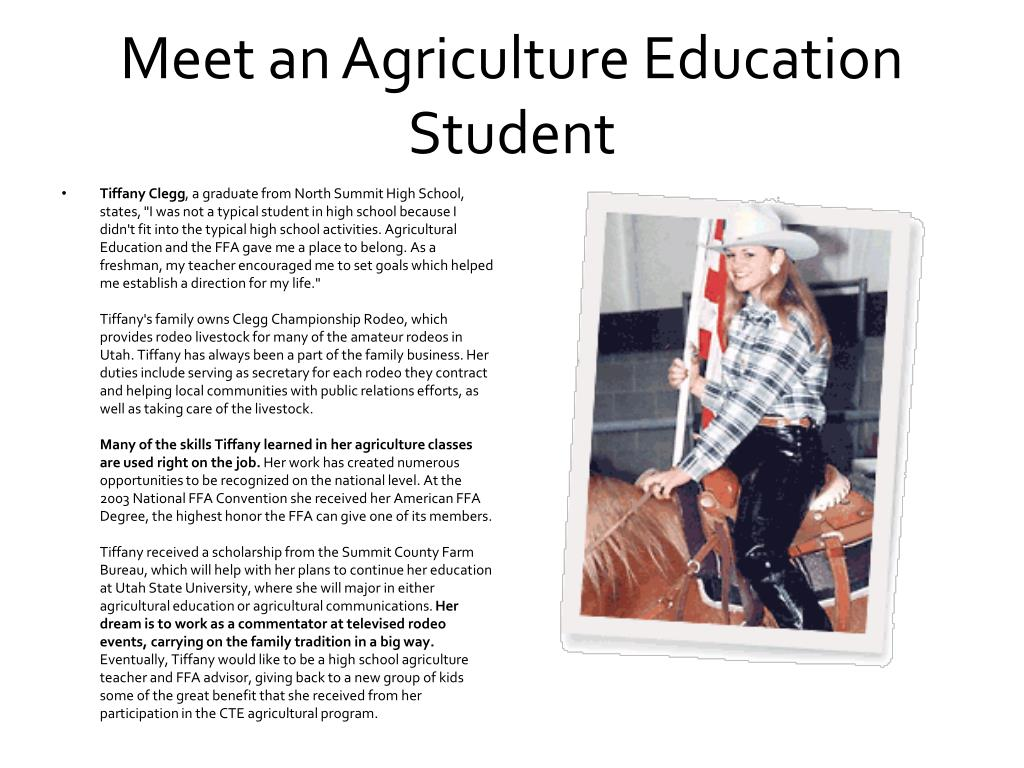 Meet an Agriculture Education Student