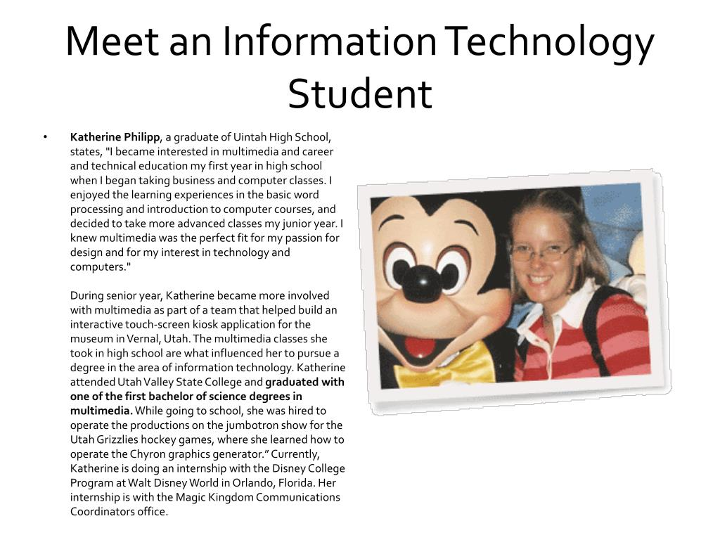 Meet an Information Technology Student