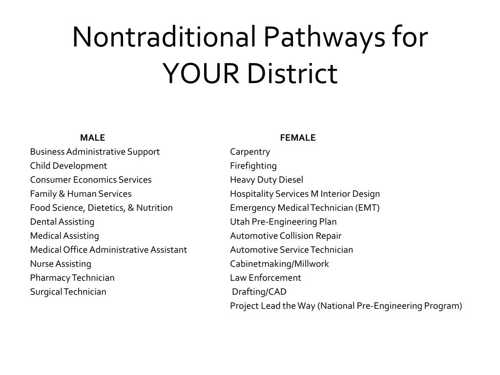 Nontraditional Pathways for