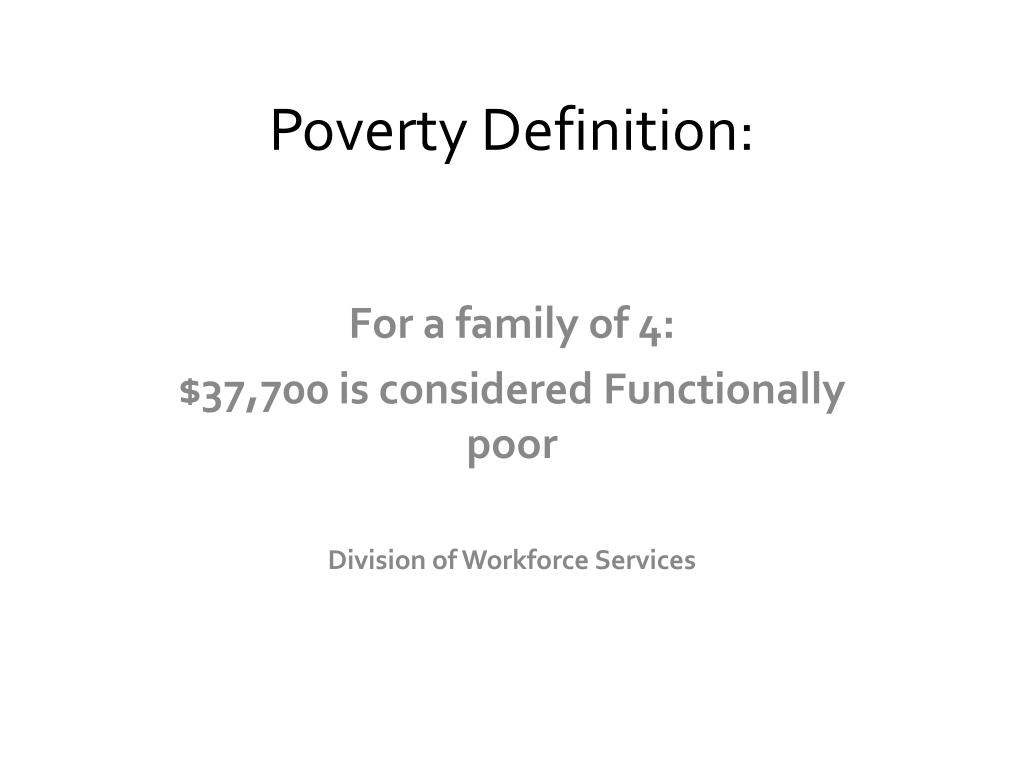 Poverty Definition: