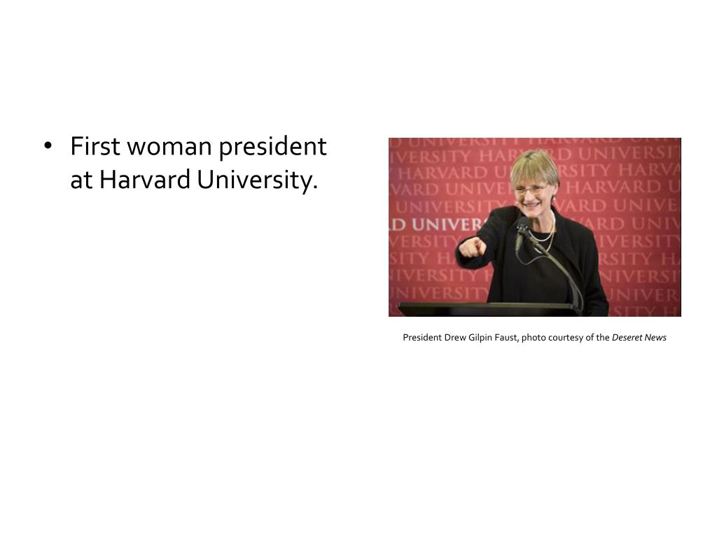 President Drew Gilpin Faust, photo courtesy of the