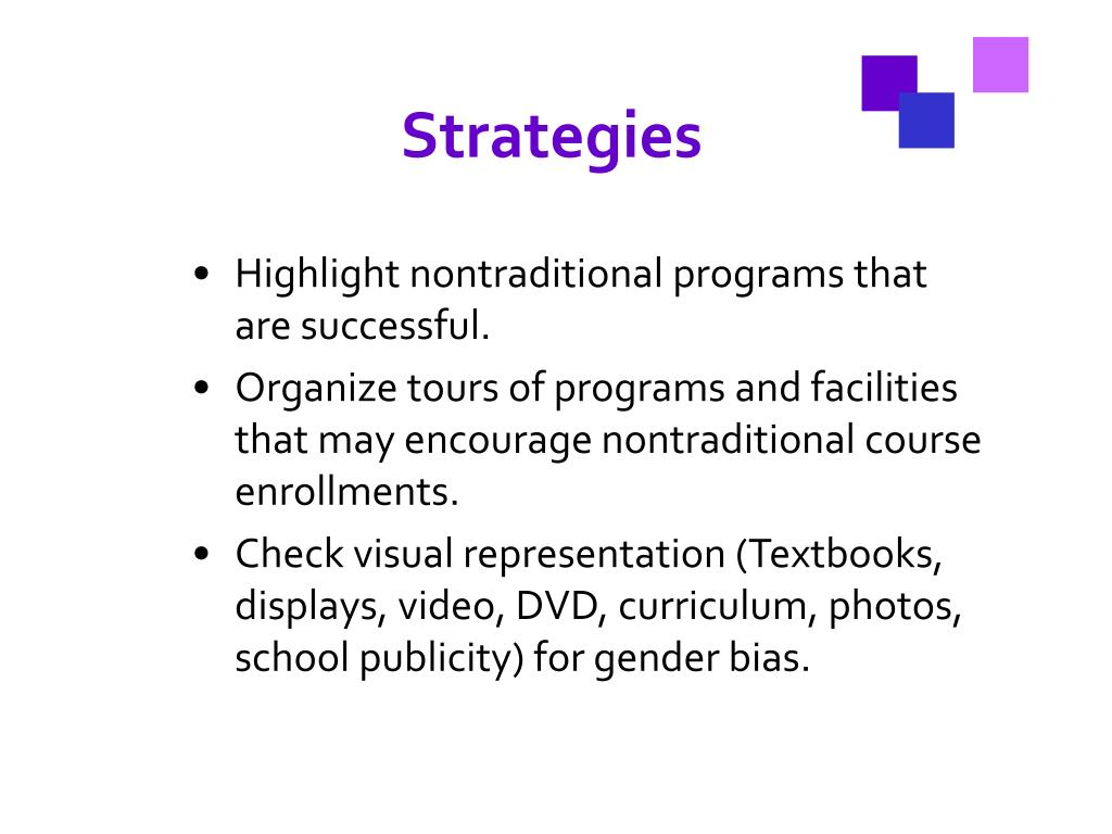 Highlight nontraditional programs that are successful.