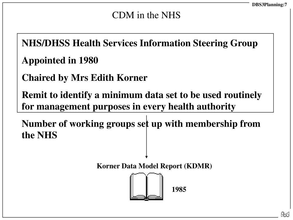 CDM in the NHS