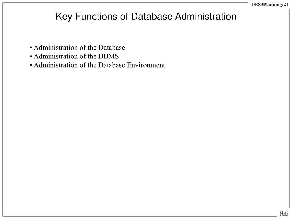 Key Functions of Database Administration