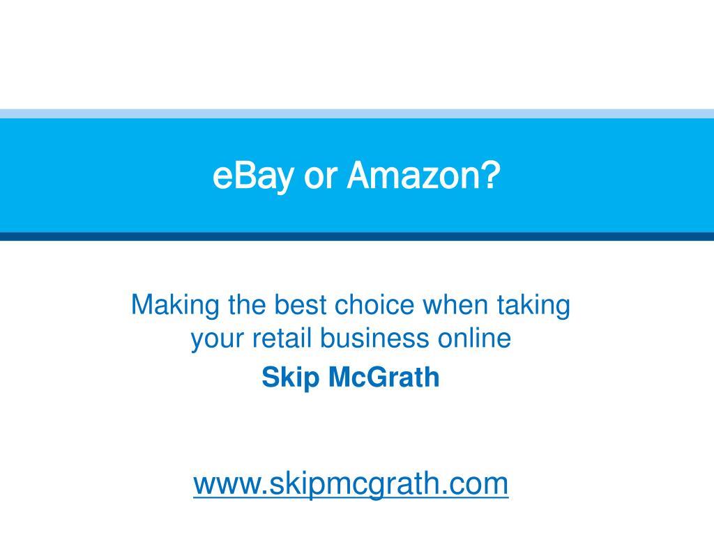 eBay or Amazon?