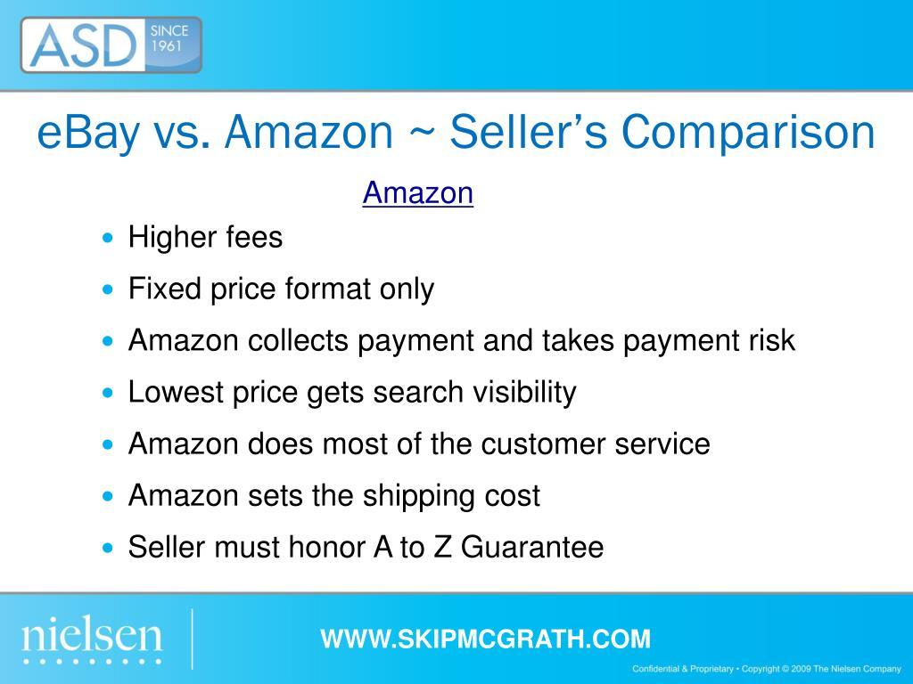eBay vs. Amazon ~ Seller's Comparison