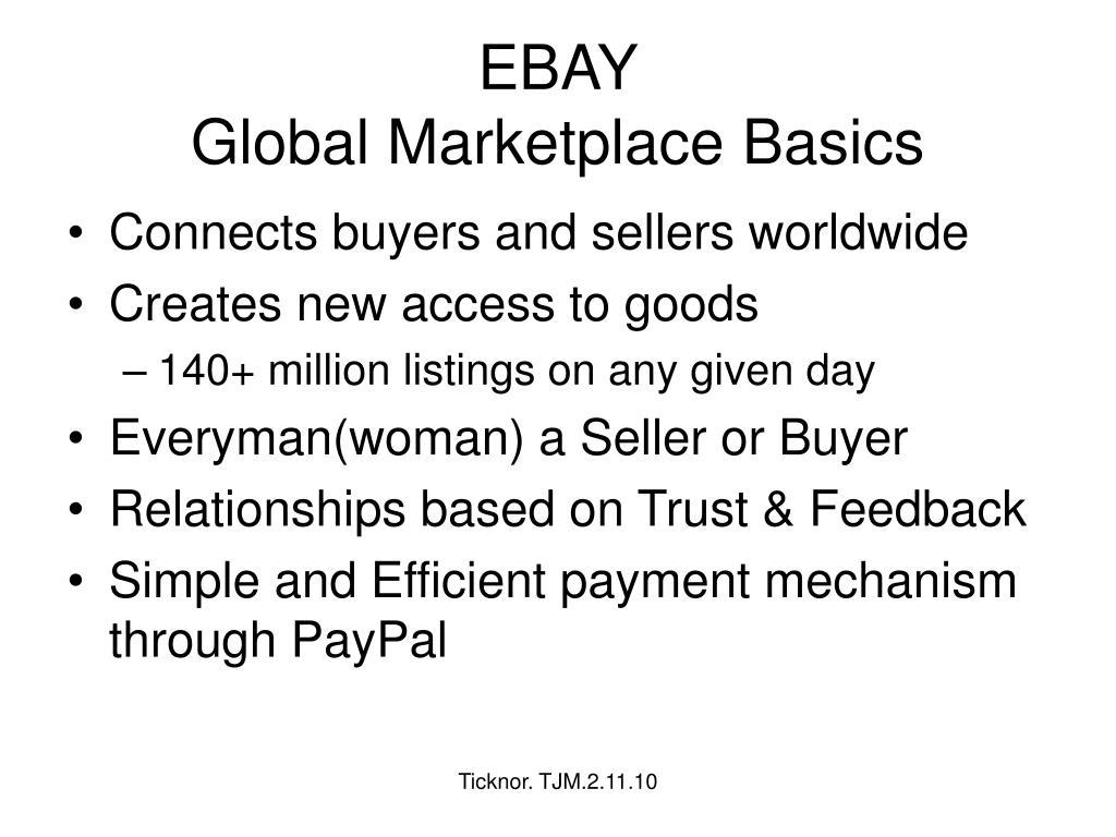 ebay global marketplace basics