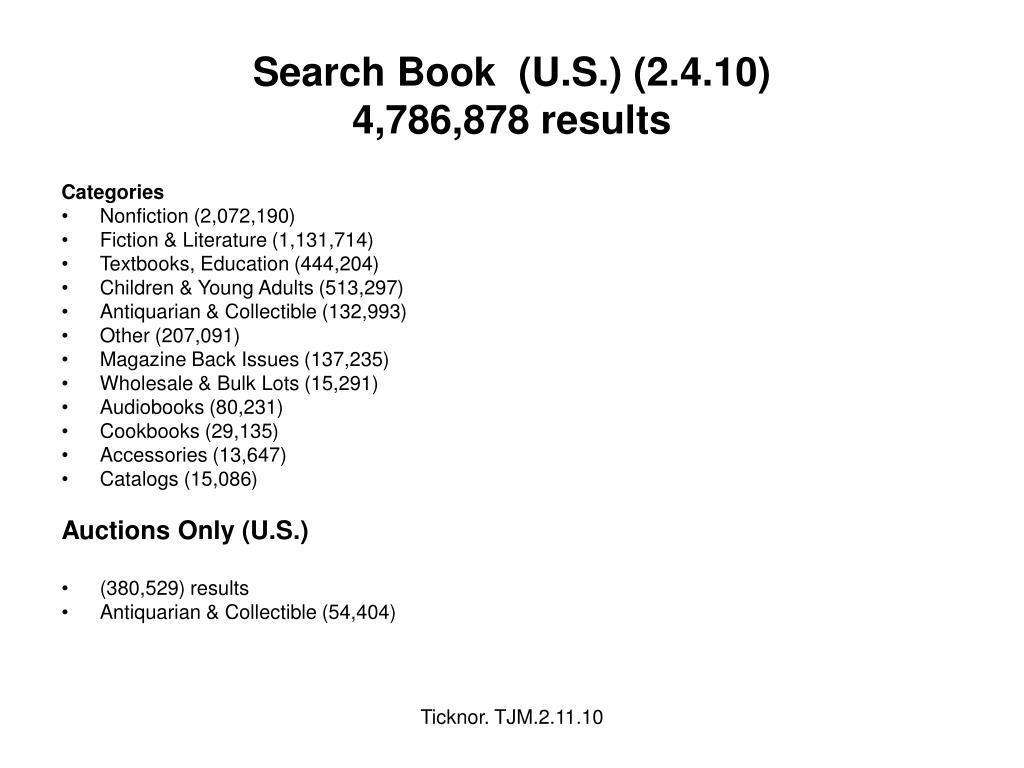 Search Book  (U.S.) (2.4.10)