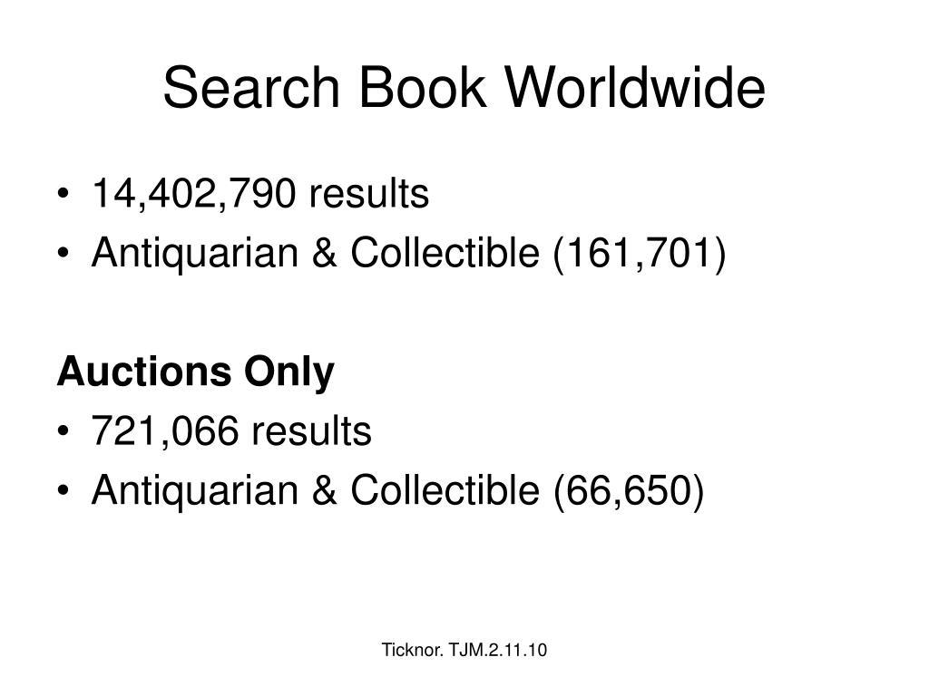 Search Book Worldwide