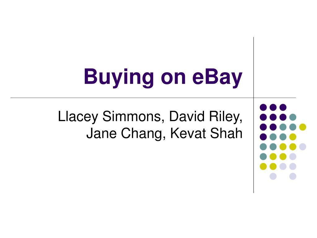 buying on ebay