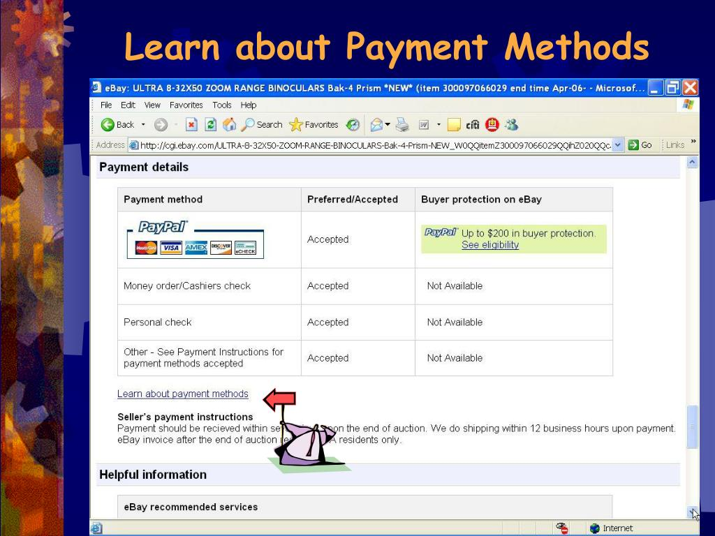 Learn about Payment Methods