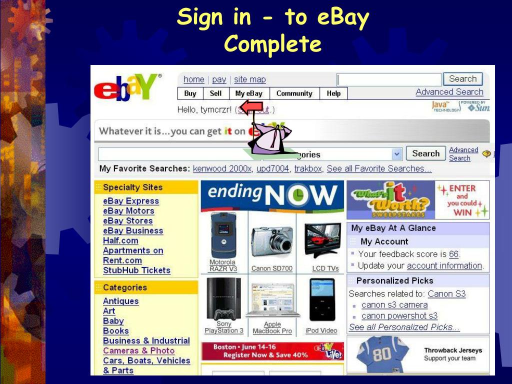 Sign in - to eBay