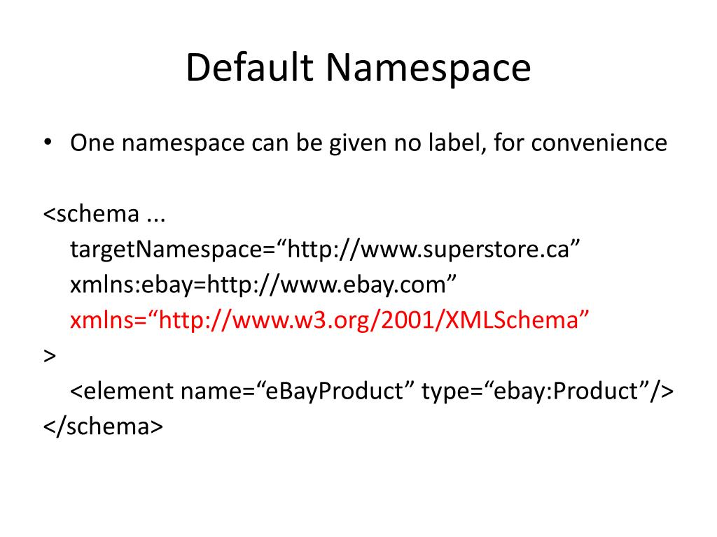 Default Namespace