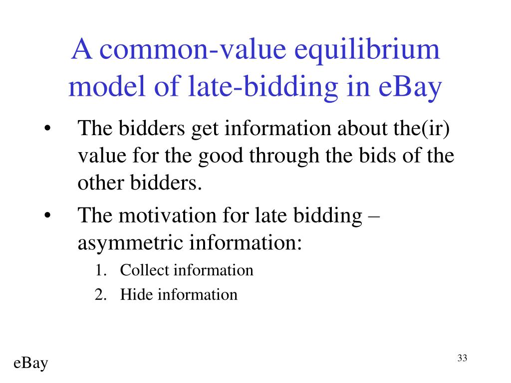 A common-value equilibrium model of late-bidding in eBay