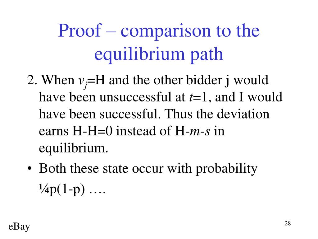 Proof – comparison to the equilibrium path