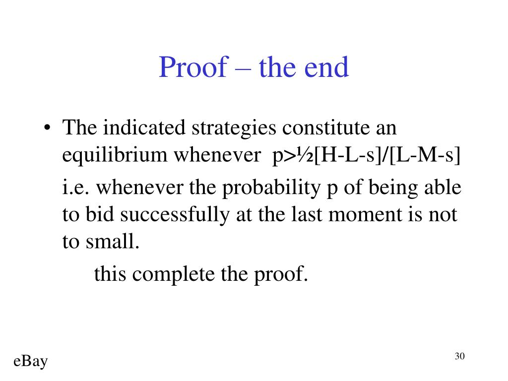 Proof – the end