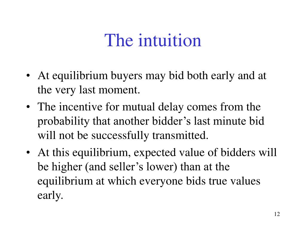 The intuition