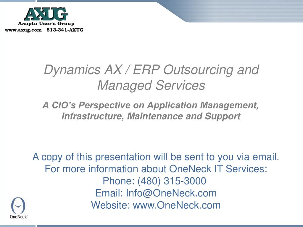 Dynamics AX / ERP Outsourcing and Managed Services