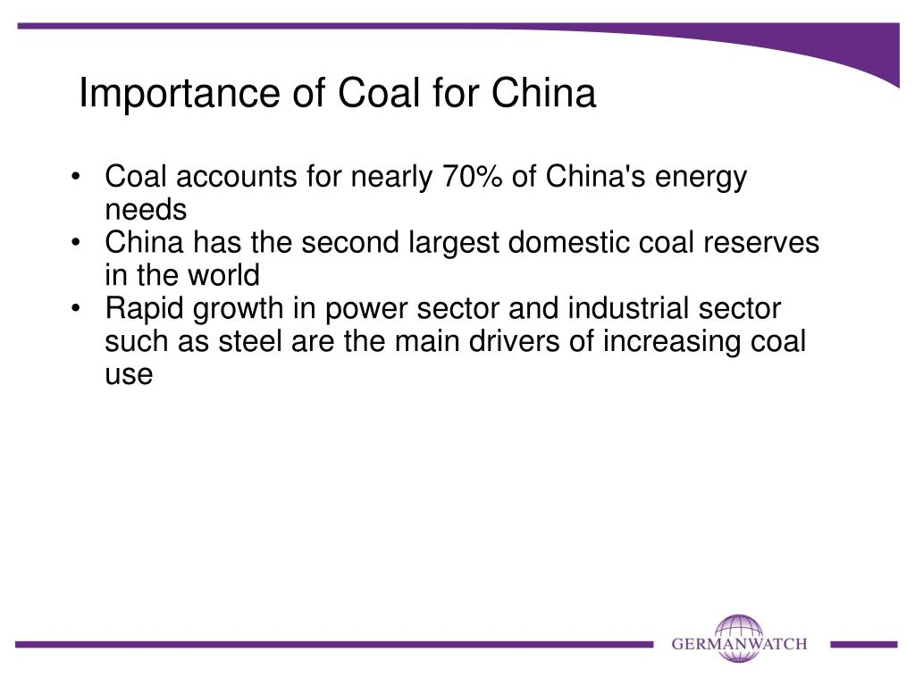 Importance of Coal for China