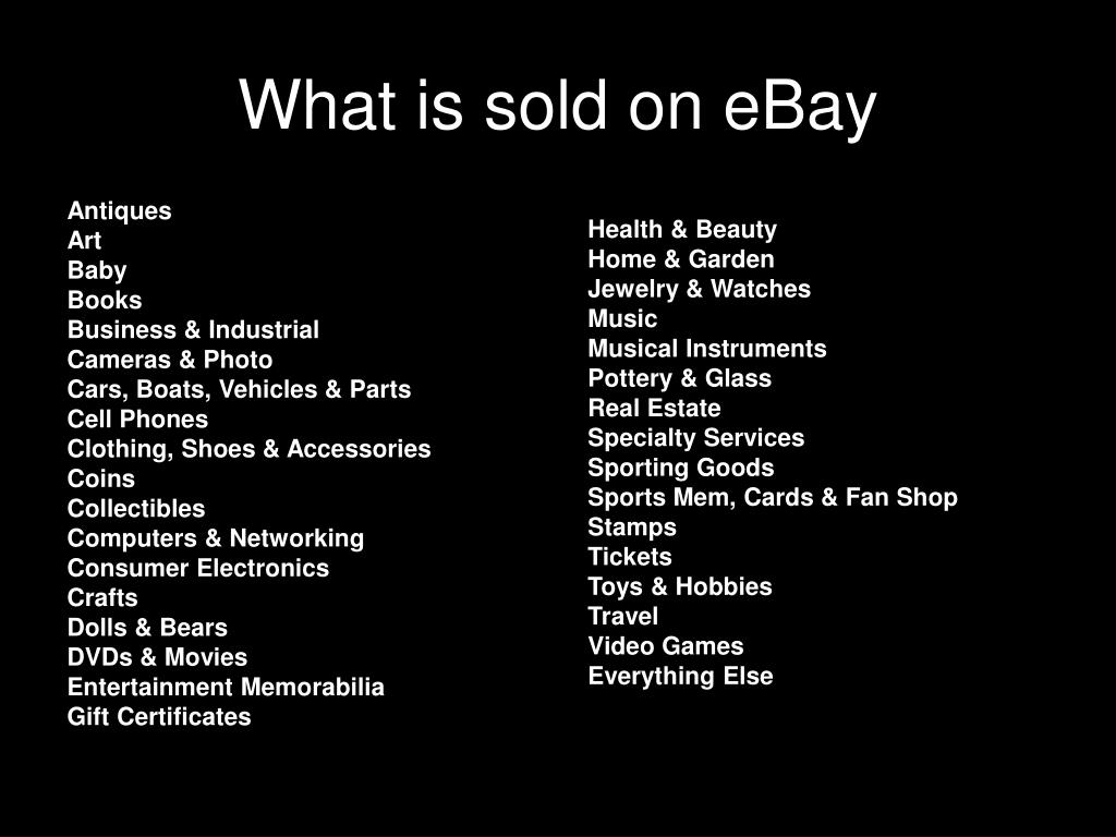 What is sold on eBay