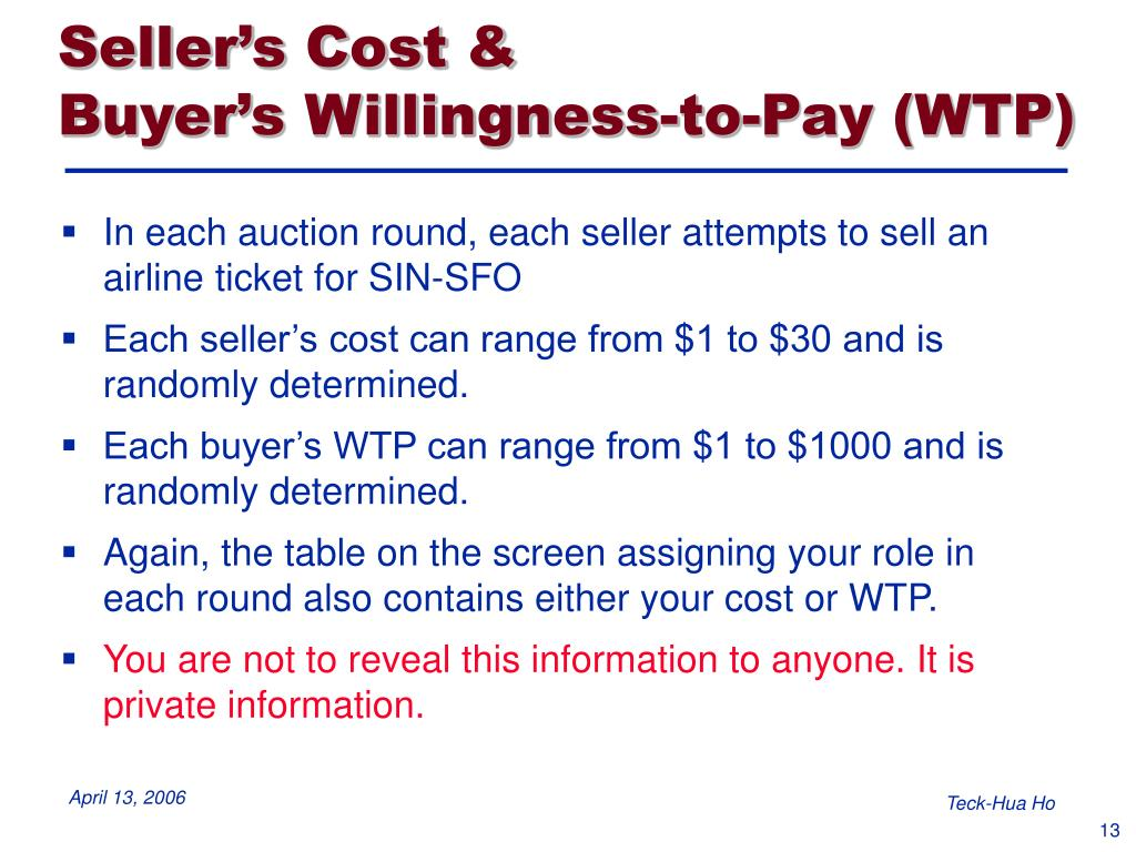 Seller's Cost &