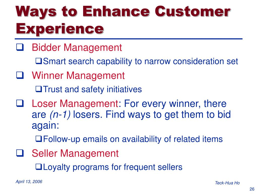 Ways to Enhance Customer Experience