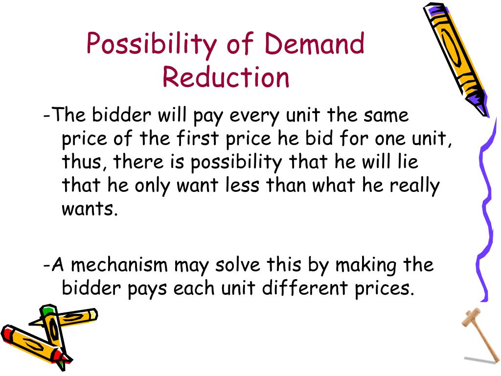 Possibility of Demand Reduction