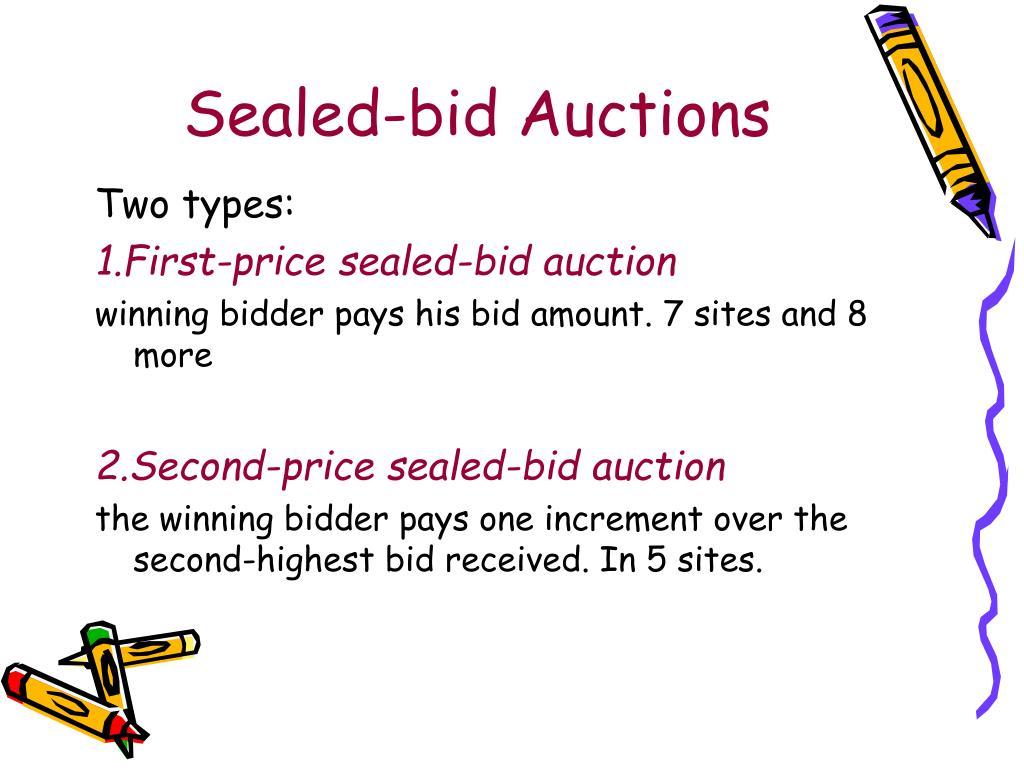 Sealed-bid Auctions