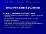 behavioral advertising guidelines50