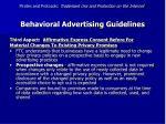 behavioral advertising guidelines52