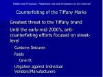 counterfeiting of the tiffany marks