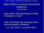ebay s efforts to prevent counterfeits ineffective fraud engine