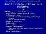 ebay s efforts to prevent counterfeits ineffective vero