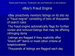 pirates and protocols trademark use and protection on the internet ebay s fraud engine