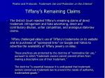 pirates and protocols trademark use and protection on the internet tiffany s remaining claims