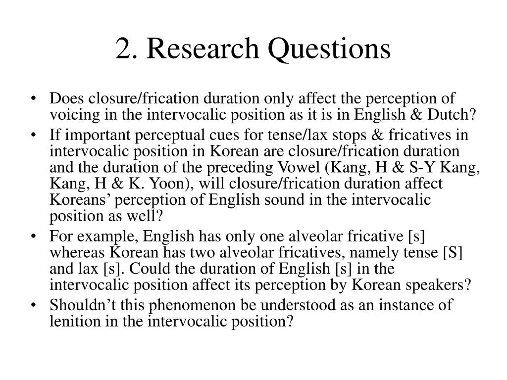 2. Research Questions