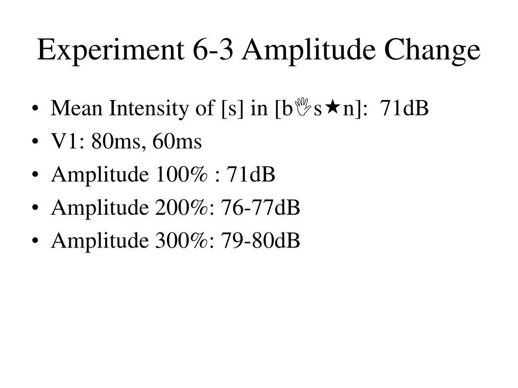 Experiment 6-3 Amplitude Change