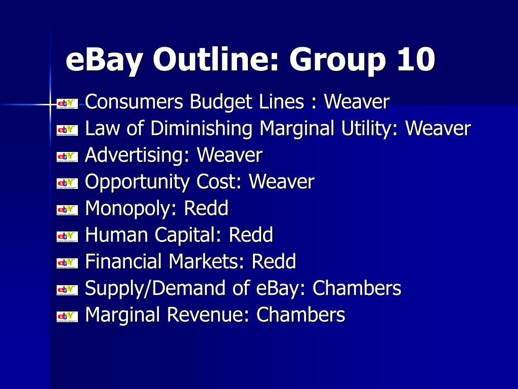 eBay Outline: Group 10