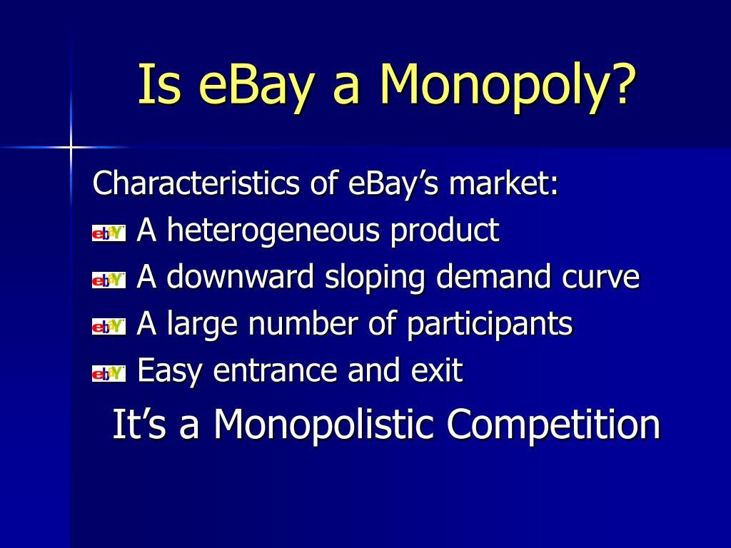 Is eBay a Monopoly?