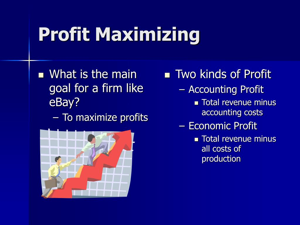 What is the main goal for a firm like eBay?