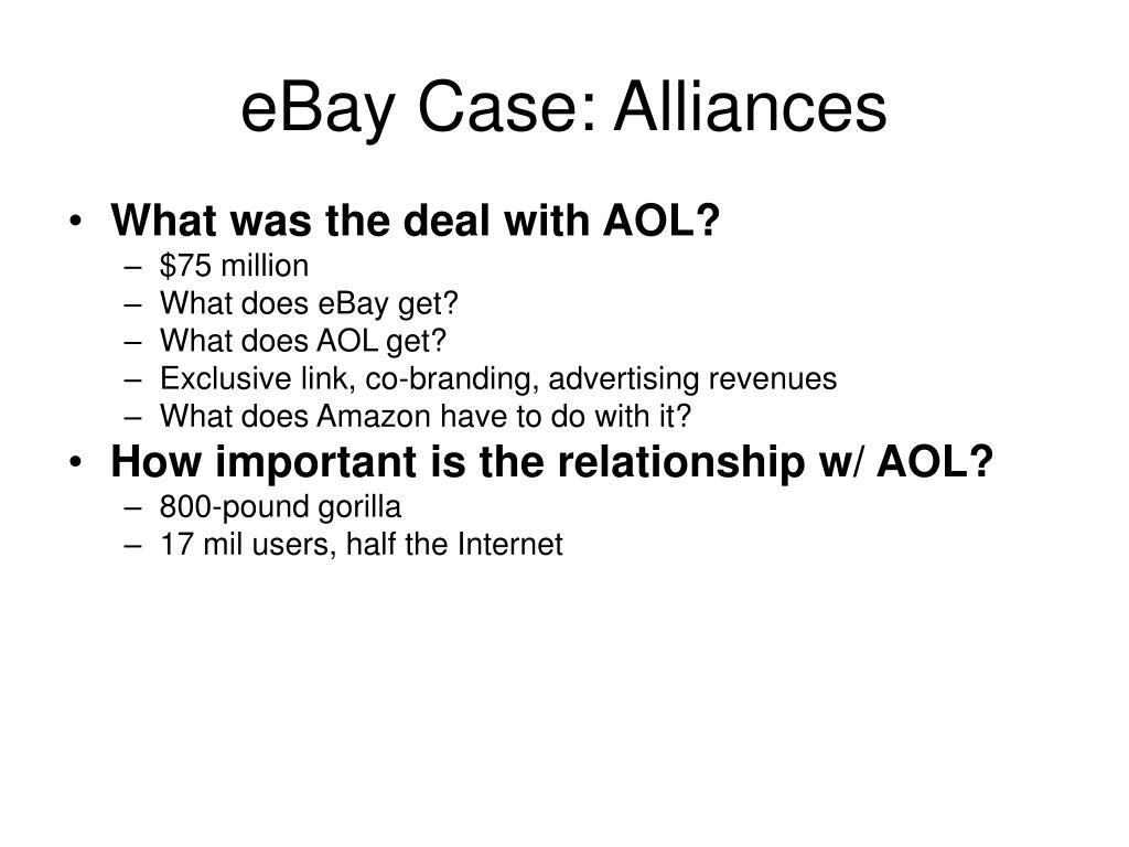 eBay Case: Alliances