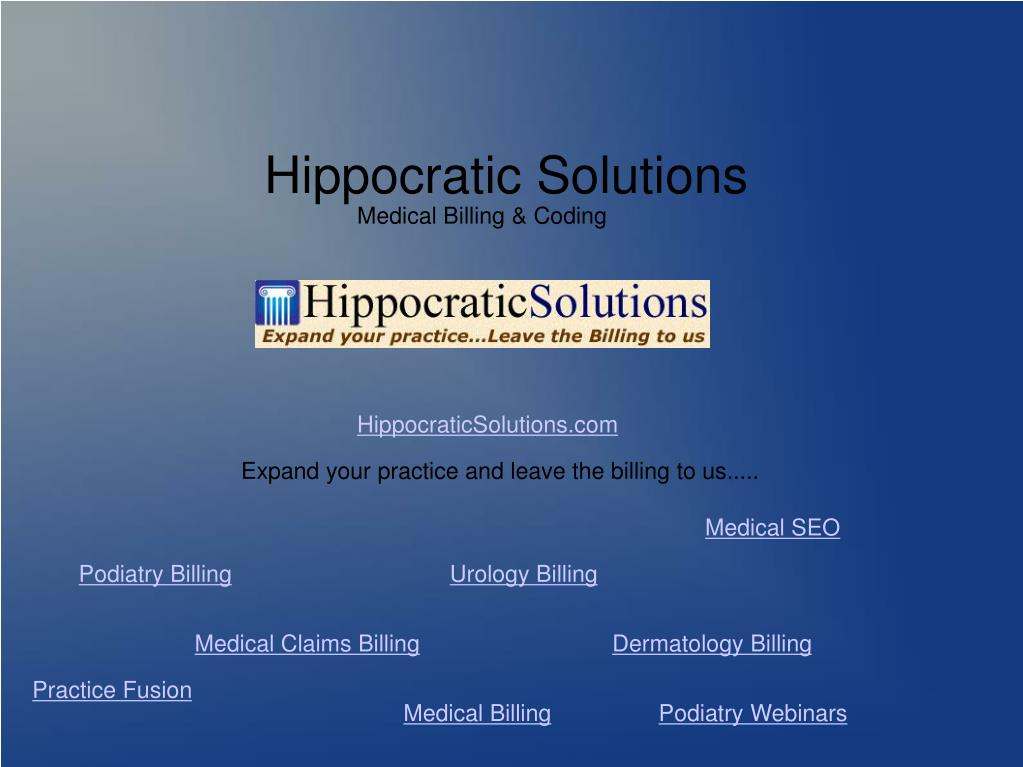 Hippocratic Solutions