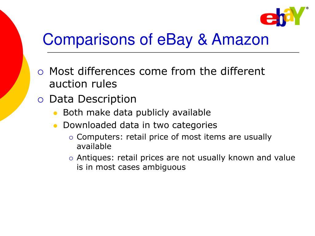 Comparisons of eBay & Amazon