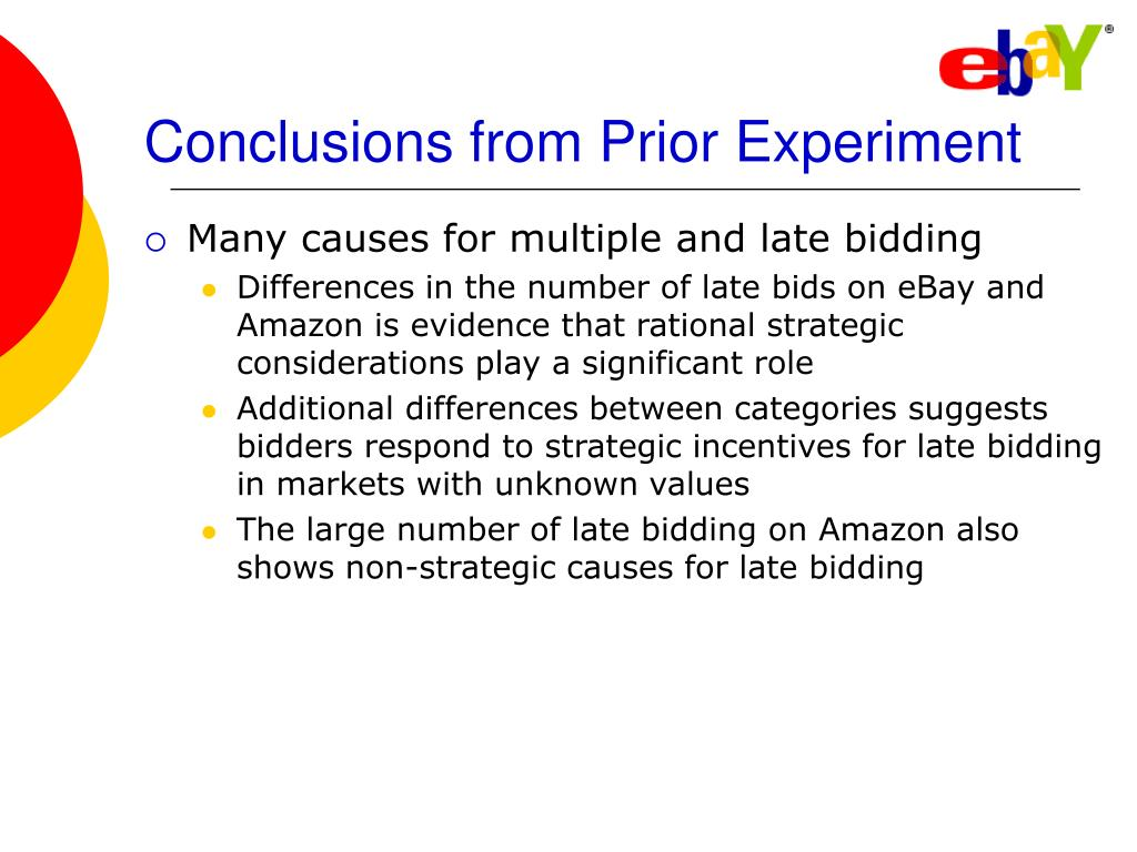 Conclusions from Prior Experiment
