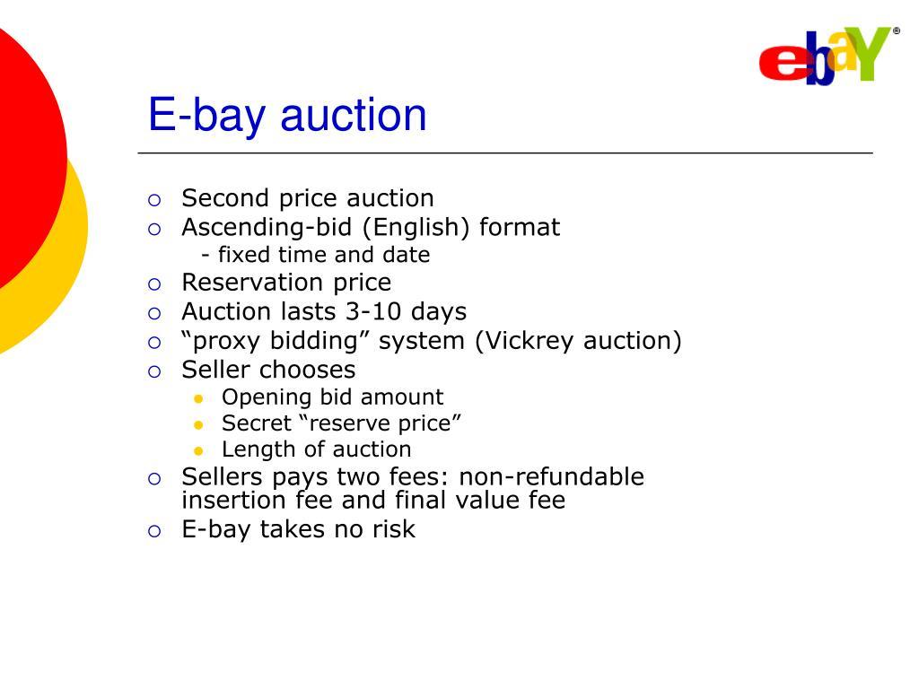 E-bay auction