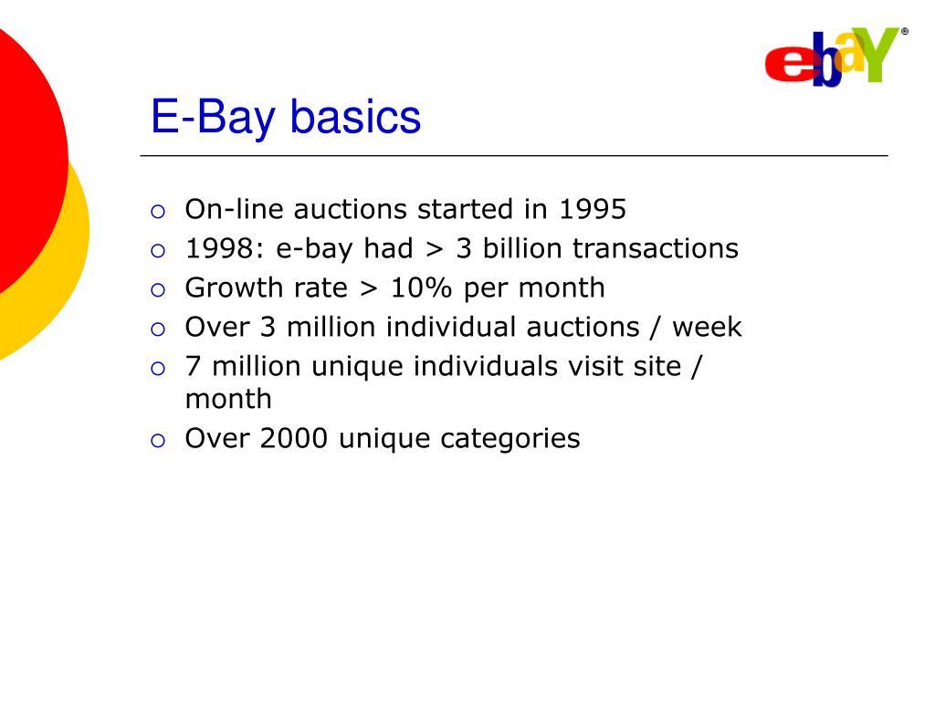E-Bay basics